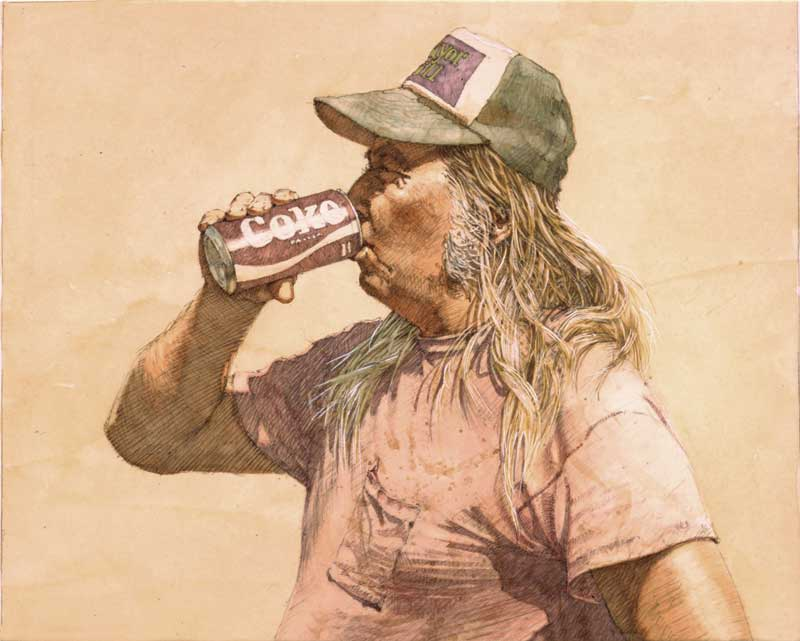 Blondie Freitas with Coke Can by Eddie Flotte
