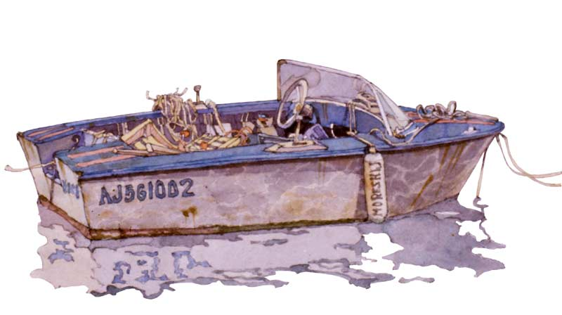 Boat in Propriano by Eddie Flotte
