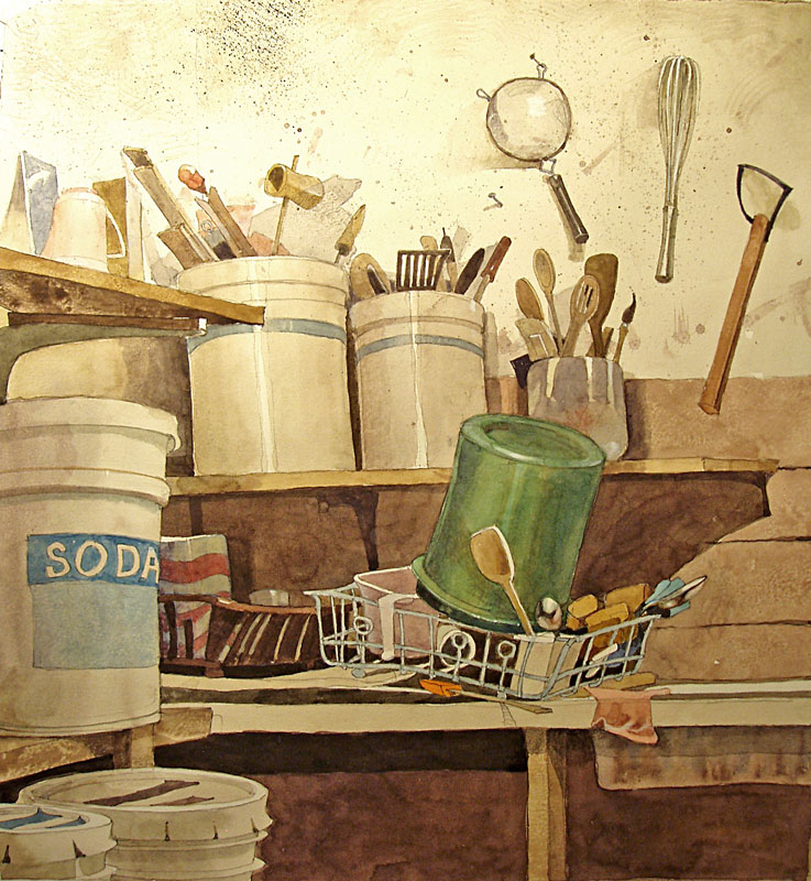Brushes, Spoons, and Sponges by Eddie Flotte