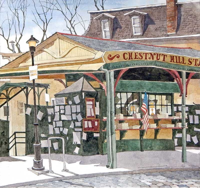 Chestnut Hill Train Station by Eddie Flotte