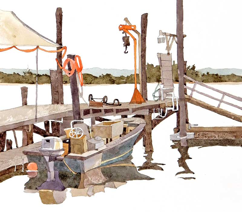 Fred Clarks Crabbing Boat by Eddie Flotte