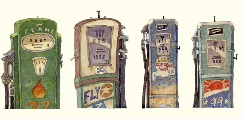Gas Pumps by Eddie Flotte