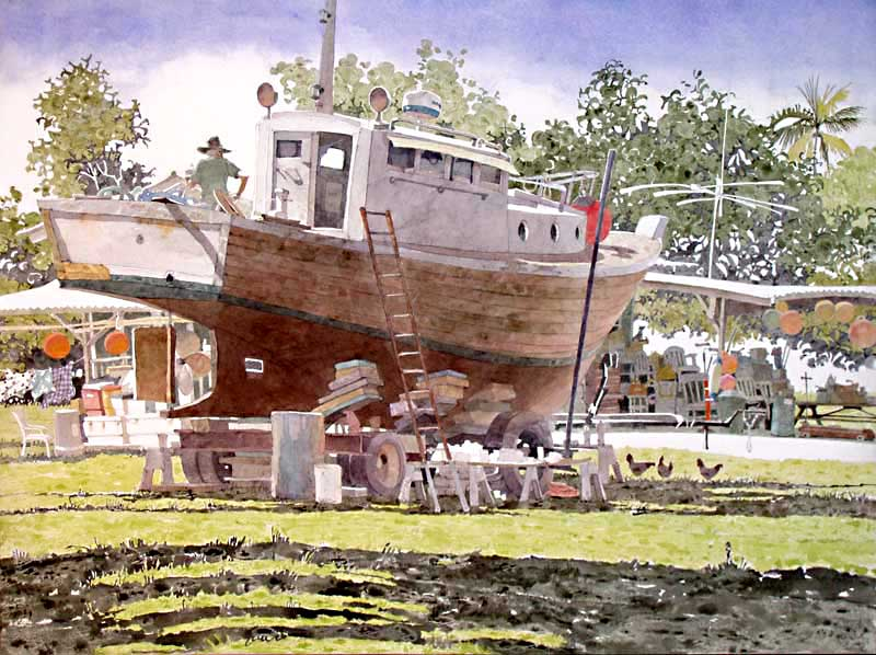 Haiku Dry Dock by Eddie Flotte