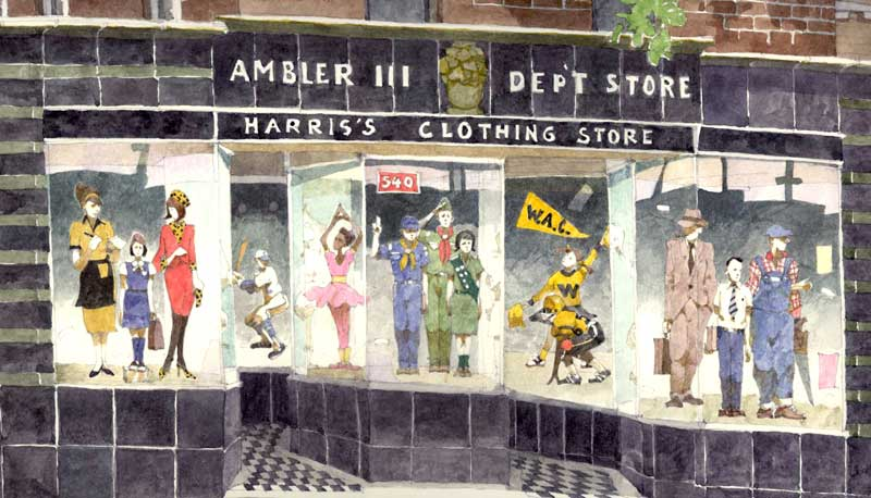 Harris' Department Store Ambler Detail by Eddie Flotte