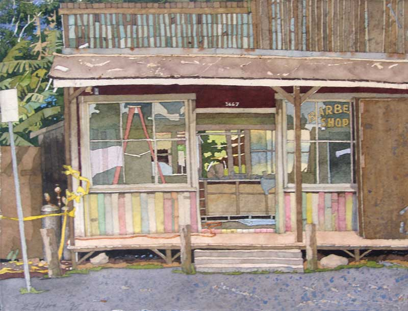 Makawao Barber Shop by Eddie Flotte