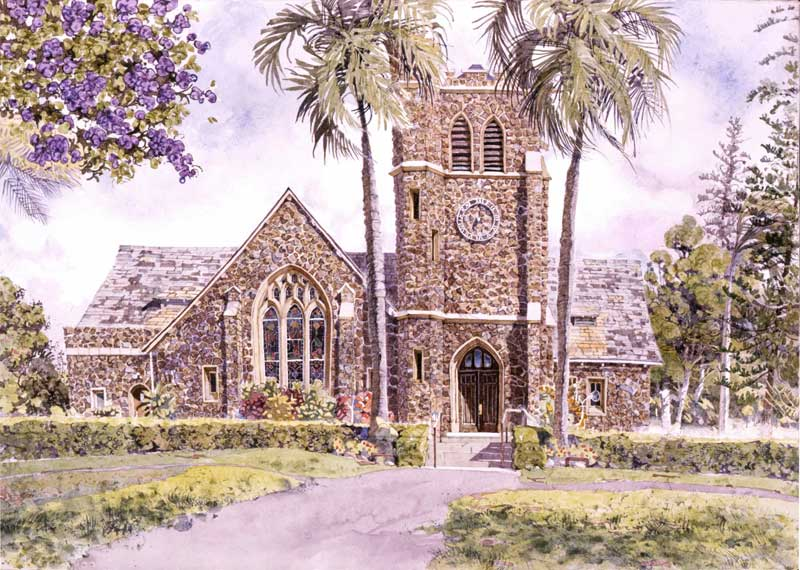 Makawao Union Church by Eddie Flotte