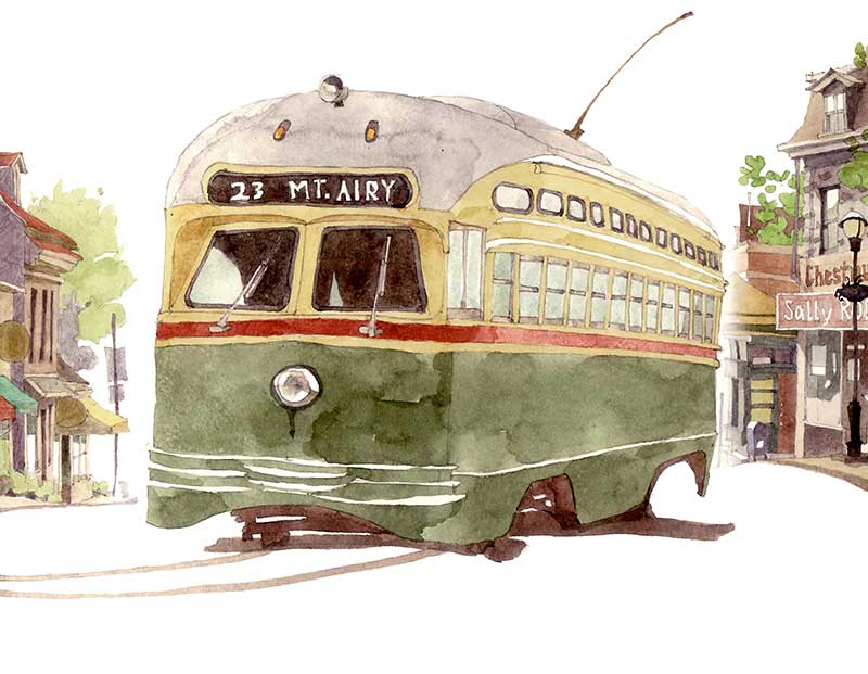 Mt. Airy Trolly by Eddie Flotte