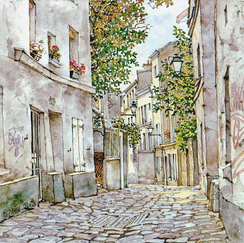 Paris Alley by Eddie Flotte