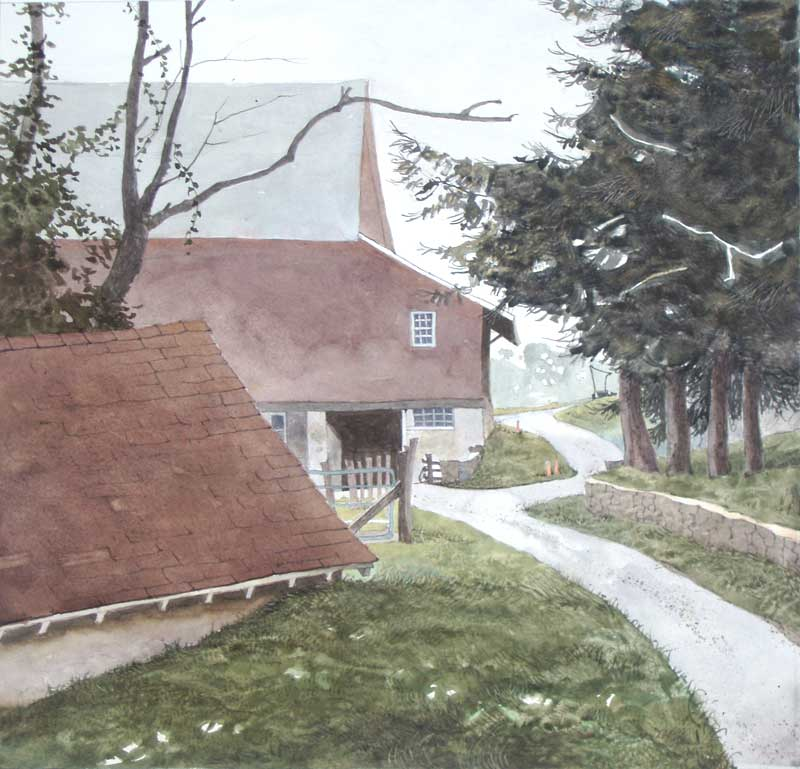 Past The Spring House To The Barn by Eddie Flotte