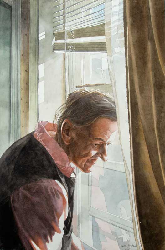 Phoebie at the Window by Eddie Flotte