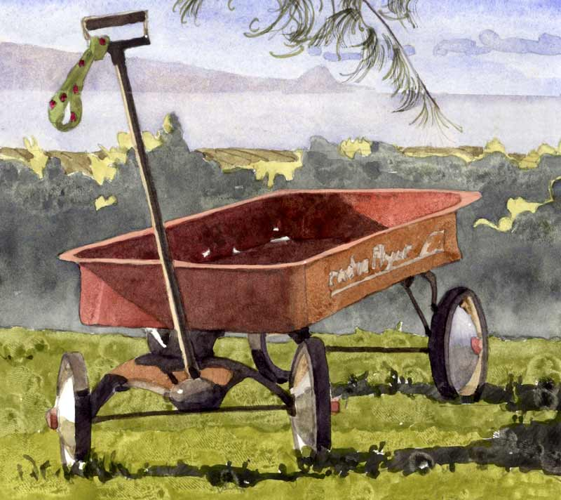 Red Wagon by Eddie Flotte