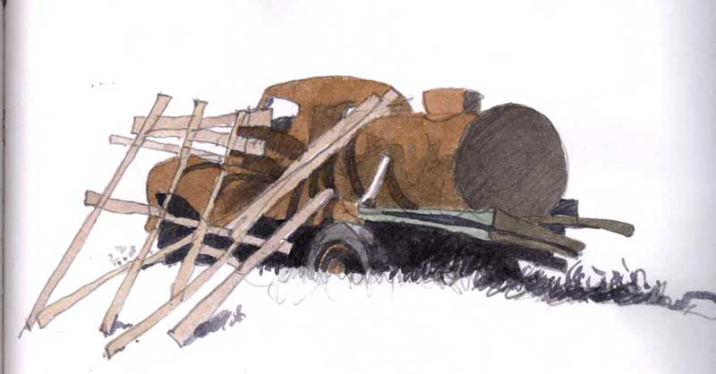 Rusted Water Truck by Eddie Flotte