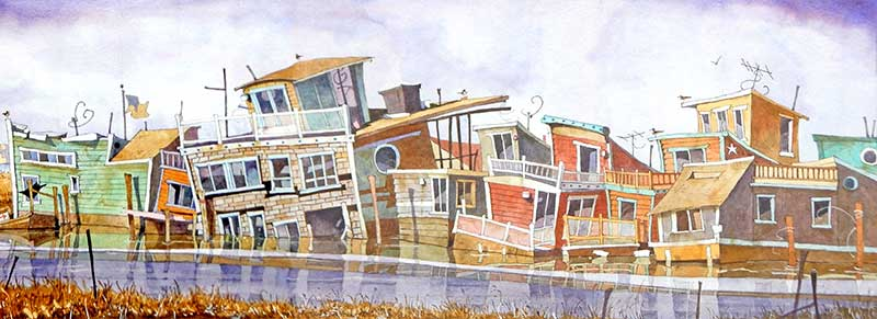Sinking Houseboats by Eddie Flotte