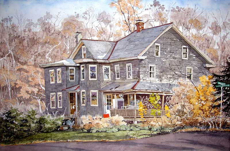 Slate Shingle House Spring Mount by Eddie Flotte