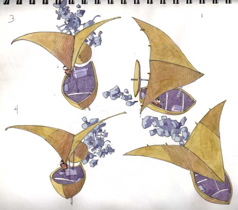 Solar Sail Sketches by Eddie Flotte