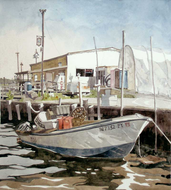 Somers Point Minnow Boat by Eddie Flotte
