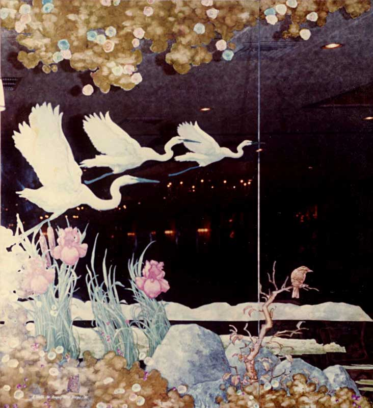 Water Birds on Mirror II by Eddie Flotte