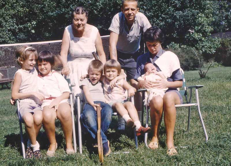 All seven of us with Nanny Flotte