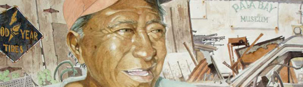 Closeup of Eddie Flotte's Painting: Portrait of Mister Brown