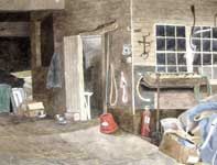 Painting by Eddie Flotte: A Walk Into Kuerner's Barn