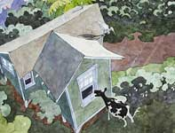 Painting by Eddie Flotte: A Most Adventurous Dairy Cow 22