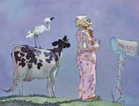 Painting by Eddie Flotte: A Most Adventurous Dairy Cow 24