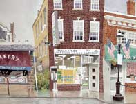 Painting by Eddie Flotte: Ambler News Agency