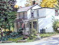 Painting by Eddie Flotte: Arcola Post Office