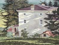 Painting by Eddie Flotte: Back Down To The House
