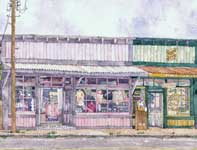 Painting by Eddie Flotte: Baldwin Avenue Paia