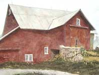 Painting by Eddie Flotte: Behind The Barn