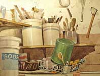 Painting by Eddie Flotte: Brushes, Spoons, and Sponges