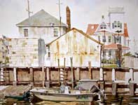 Painting by Eddie Flotte: Bulkhead on Tenth Street