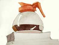 Painting by Eddie Flotte: Coffee Pot