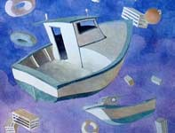 Painting by Eddie Flotte: Dream Boats