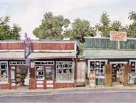 Painting by Eddie Flotte: Duncan's Coffee
