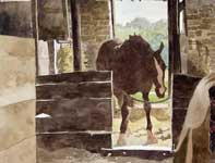 Painting by Eddie Flotte: Frolic's Horse Hopefully