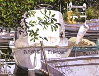 Painting by Eddie Flotte: Gill Nets
