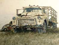 Painting by Eddie Flotte: GMC Truck