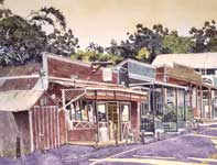 Painting by Eddie Flotte: Good Morning Makawao