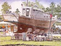 Painting by Eddie Flotte: Haiku Dry Dock