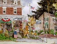 Painting by Eddie Flotte: Halloween In Skippack, PA