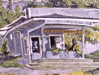 Painting by Eddie Flotte: Harold's Office
