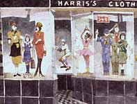 Painting by Eddie Flotte: Harris' Department Store Ambler Detail