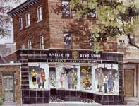 Painting by Eddie Flotte: Harris' Department Store Ambler