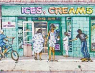 Painting by Eddie Flotte: Ices, Creams, and Dreams
