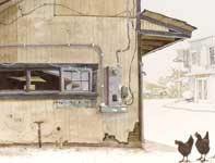 Painting by Eddie Flotte: Kitada's Kitchen