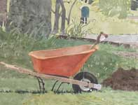 Painting by Eddie Flotte: Knox's Wheel Barrow