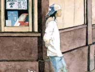 Painting by Eddie Flotte: Komoda's Bakery Detail