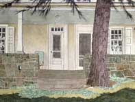 Painting by Eddie Flotte: Kuerner's Front Porch